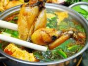 Ẩm thực - Đãi bạn hiền lẩu ếch nấu măng ngon như ngoài hàng