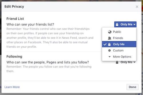 Cách ẩn danh sách bạn bè Facebook - 2