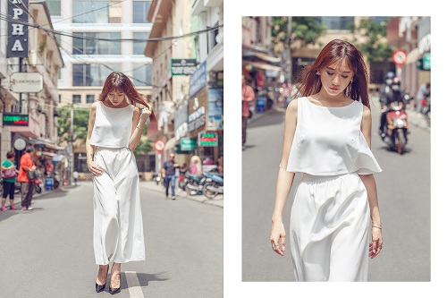 Hari Won vai trần đẹp mộng mơ trên phố - 4