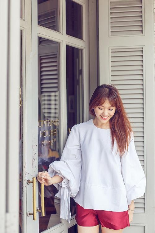 Hari Won vai trần đẹp mộng mơ trên phố - 7