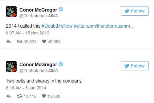 Tin thể thao 16/11: McGregor biết kỳ tích UFC từ 2 năm trước