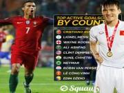 """Bóng đá - Vua ghi bàn ĐTQG: Công Vinh """"chung mâm"""" Ronaldo, Messi"""