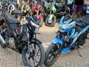 Xe máy - Xe đạp - Satria F150 2016 giá 90 triệu đồng cập bến Việt Nam