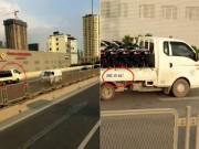 Tin tức trong ngày - Clip: Xe tải chạy ngược chiều vun vút ở đường trên cao