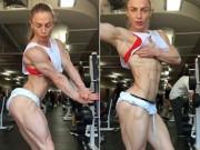 Thể thao - Choáng: Mỹ nhân thể hình và khối cơ bắp 100% không mỡ