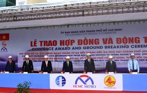 Khởi công xây nhà ga ngầm metro Bến Thành đến Nhà hát TP HCM - 1