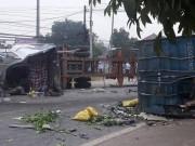 Tin tức trong ngày - HN:Thùng xe container văng xuống đường, 2 người tử nạn