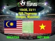 Bóng đá - Malaysia - Việt Nam: Đòi nợ cố nhân (AFF Cup 2016)