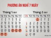 Tin tức trong ngày - Chính thức công bố lịch nghỉ Tết Nguyên đán 2017