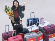 Thời trang - Hoa khôi Diệu Ngọc mang 100kg hành lý đi thi Miss World