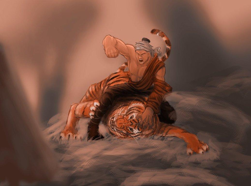 Vang danh sử sách: Bố Cái Đại Vương đả hổ ở Đường Lâm