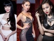 """Thời trang - """"Thót tim""""với loạt váy áo xẻ ngực táo bạo của mỹ nhân Việt"""