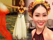 Thời trang - Hoa khôi Diệu Ngọc được khen khi thi tài năng Miss World