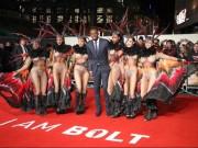 """Thể thao - Usain Bolt ra mắt phim, """"rừng"""" sao VIP, vũ công nóng bỏng tề tựu"""