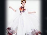 Thời trang - Diệu Ngọc diện áo yếm gợi cảm, bay bổng thi Miss World