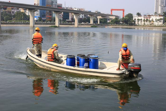 Cận cảnh công nghệ độc quyền làm sạch hồ của Hà Nội - ảnh 6