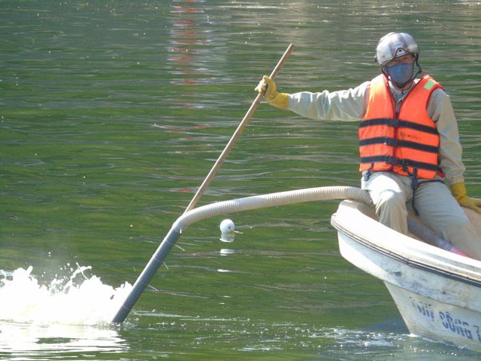 Cận cảnh công nghệ độc quyền làm sạch hồ của Hà Nội - ảnh 5