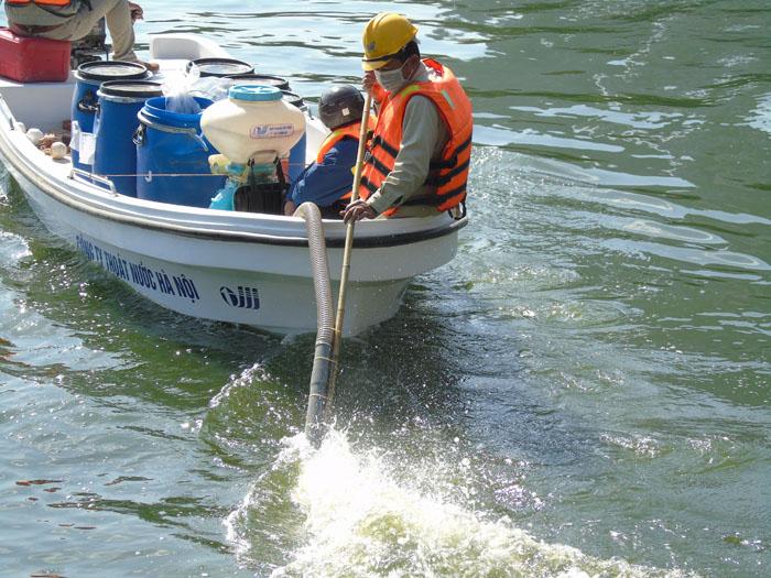 Cận cảnh công nghệ độc quyền làm sạch hồ của Hà Nội - ảnh 4
