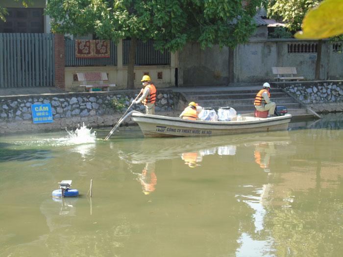 Cận cảnh công nghệ độc quyền làm sạch hồ của Hà Nội - ảnh 7