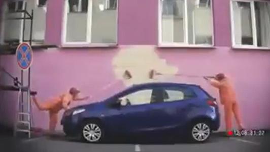 Clip hài: Đậu xe sai chỗ và cái kết quá nhọ