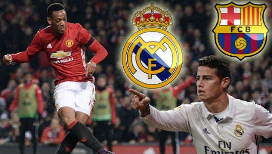 NÓNG: Real và Barca đấu giá Martial 60 triệu bảng