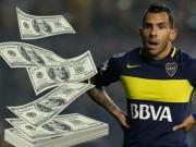 """Bóng đá - Đến Trung Quốc, Tevez """"chấp"""" cả lương Messi, Ronaldo"""