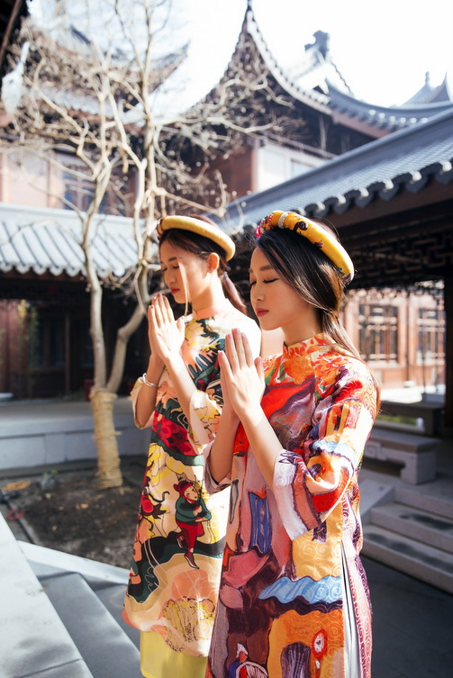 HH Mỹ Linh đẹp nao lòng giữa trời Thượng Hải - 3