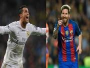 """Bóng đá - Ghi bàn, Messi vẫn """"hít khói"""" Ronaldo ở Champions League"""