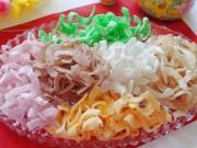 Làm mứt dừa nhiều màu bằng sữa hoa quả cực đơn giản