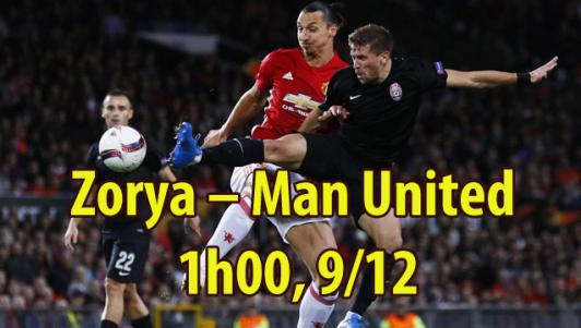 Zorya – MU: Giật vé né đòn, Tottenham chờ đón