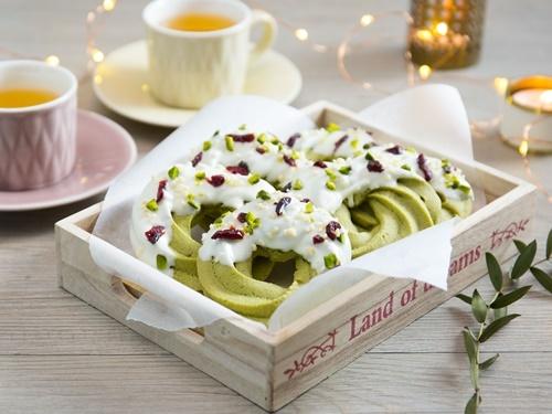 Cách làm bánh quy hình vòng hoa Noel cực đơn giản - 8