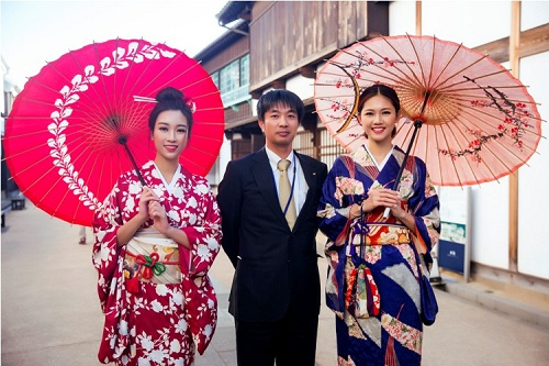 Mỹ Linh, Thanh Tú mặc Kimono đẹp hơn cả gái Nhật - 8