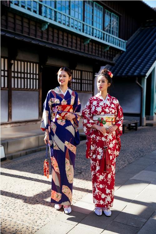 Mỹ Linh, Thanh Tú mặc Kimono đẹp hơn cả gái Nhật - 9