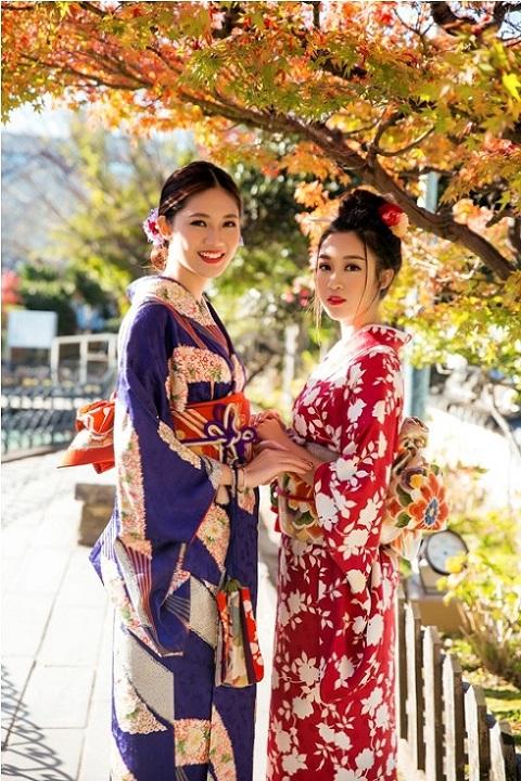 Mỹ Linh, Thanh Tú mặc Kimono đẹp hơn cả gái Nhật - 12