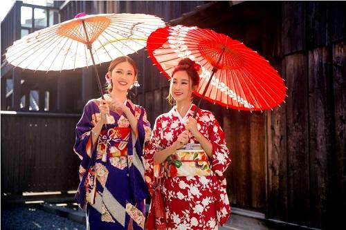 Mỹ Linh, Thanh Tú mặc Kimono đẹp hơn cả gái Nhật - 13
