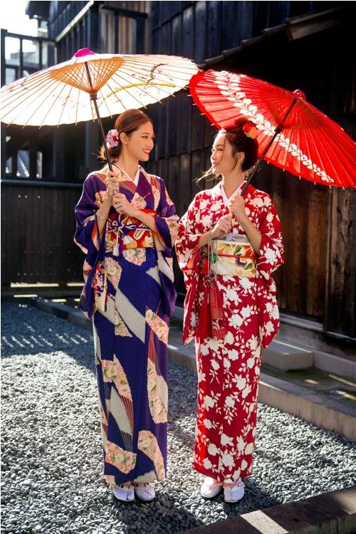 Mỹ Linh, Thanh Tú mặc Kimono đẹp hơn cả gái Nhật - 15