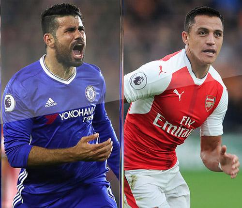 """""""Sát thủ"""" số 1 Ngoại hạng Anh: Costa hay Sanchez?"""