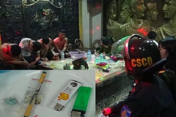 Gần 100 cảnh sát ập vào quán Karaoke lúc nửa đêm