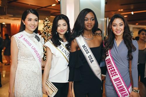 Lệ Hằng catwalk lấn át 10 mỹ nữ quốc tế thi Miss Universe - 3