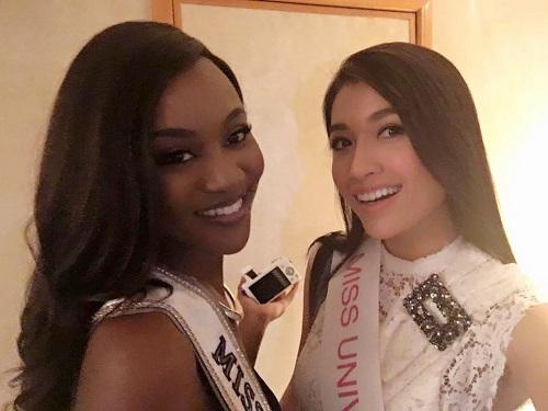 Lệ Hằng catwalk lấn át 10 mỹ nữ quốc tế thi Miss Universe - 4