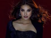 Thời trang - Hoa hậu Phạm Hương hóa miêu nữ sắc lạnh với đầm khoét xẻ ren lưới