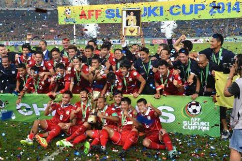 Hình ảnh ĐT Thái Lan đăng quang AFF Cup 2014