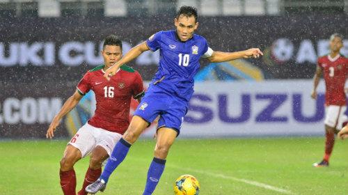 Tại vòng bảng AFF Cup 206, Indonesia thua 2-4 trước Thái Lan