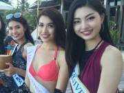 Thời trang - Lệ Hằng tự tin đọ sắc bikini bên đối thủ Miss Universe
