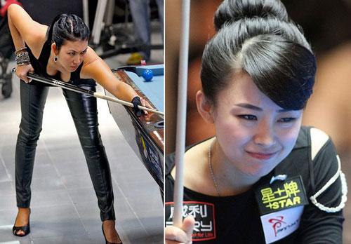 Bi-a toàn mỹ nhân: Thi đấu như tuyển hoa hậu