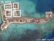 """TQ bị  """" tố """"  đặt vũ khí trên 7 đảo nhân tạo ở Biển Đông"""