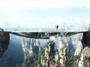 """Thế giới - TQ xây cầu kính """"vô hình"""" ghê rợn nối 2 bên vực núi"""