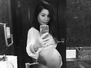 Ca nhạc - MTV - Vợ Đan Trường khoe bụng bầu 8 tháng trong phòng tắm