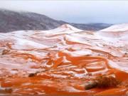 Thế giới - Sa mạc Sahara lần đầu có tuyết sau gần 40 năm