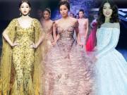 """Hoa hậu Việt đua nhau  """" khuấy đảo """"  sàn catwalk năm 2016"""